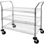 Chrome Wire Trolley 3 Tier